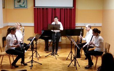 Kvartet klarinetov Glasbene šole Piran