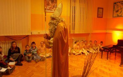 Obisk Miklavža na GŠ Ilirska Bistrica