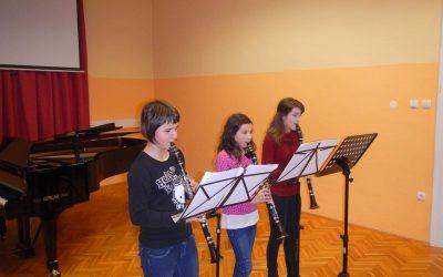 Razredni nastop kljunaste flavte in klarineta