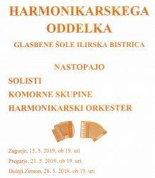 Koncerti harmonikarskega oddelka Glasbene šole Ilirska Bistrica