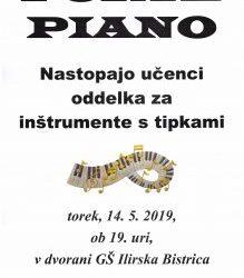 FORTE PIANO – nastop izbranih učencev oddelka za inštrumetne s tipkami