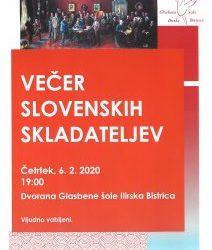 Večer slovenskih skladateljev